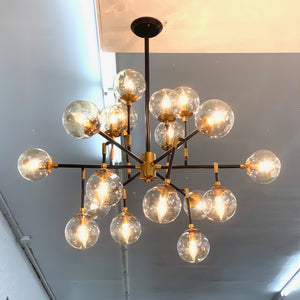 Black & Brass Chandelier