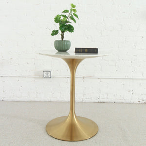 "Daisy Faux Marble 28"" Cafe Table"