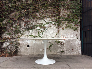 "Daisy Faux Marble 78"" Oval Pedestal Dining Table"