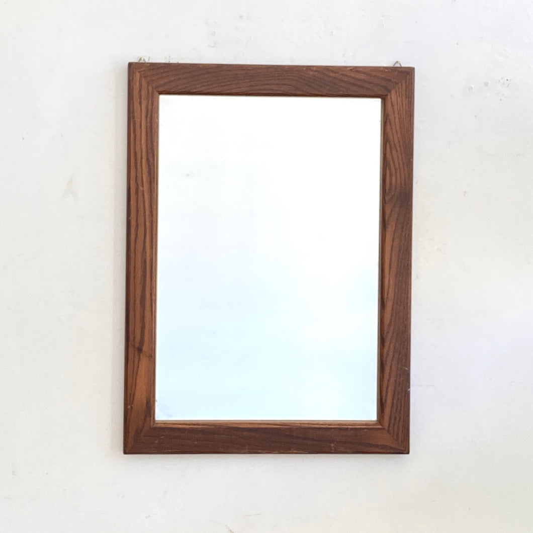 Oak Mid Century Mirror