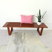 "Load image into Gallery viewer, ""Jones"" Wood Slat Bench"