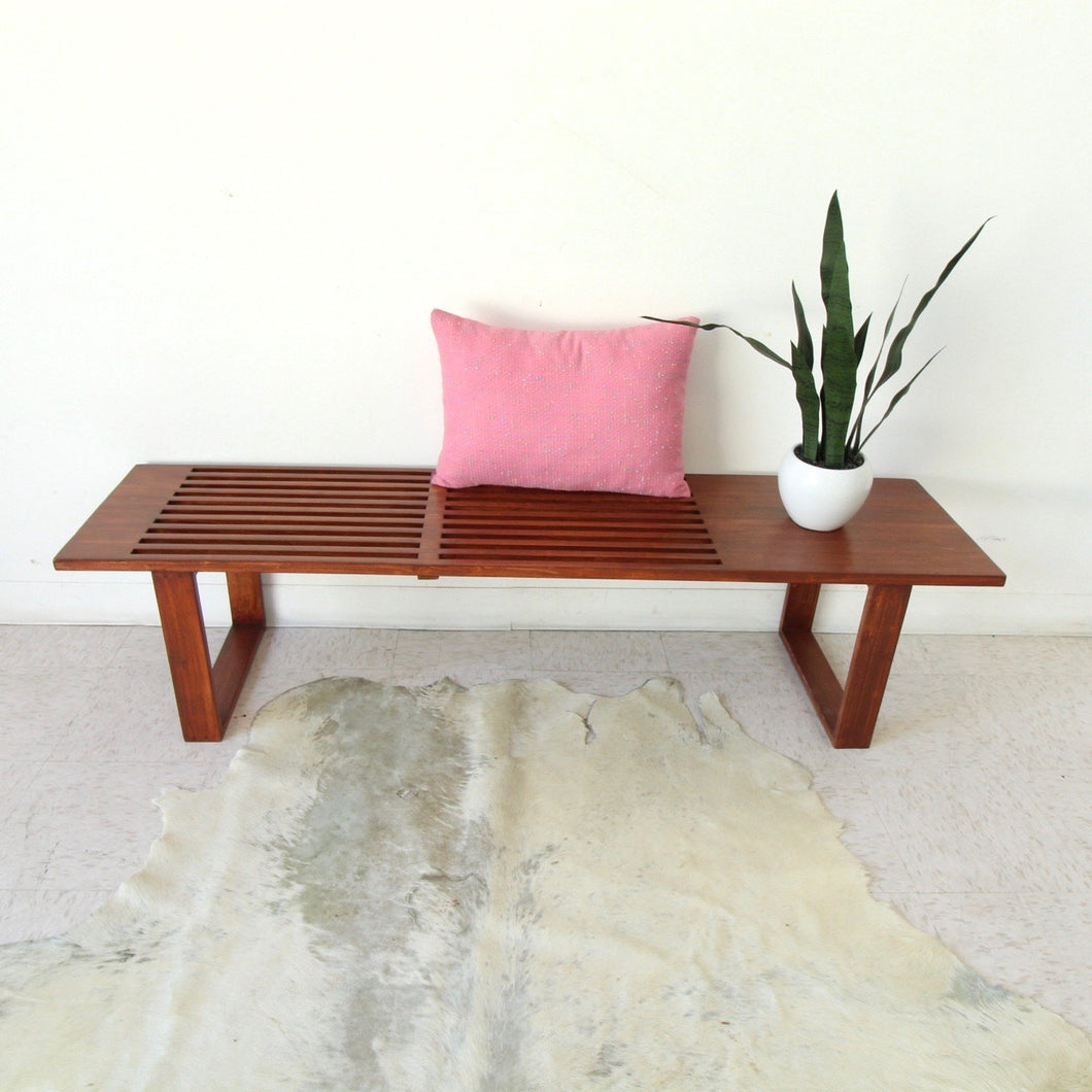 """Jones"" Wood Slat Bench"