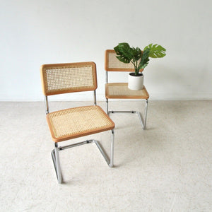 Italian Style Wicker and Chrome Chair