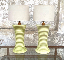 Load image into Gallery viewer, High end tall  yellow Italian table lamp
