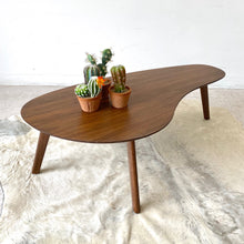 Load image into Gallery viewer, Walnut Boomerang Coffee Table
