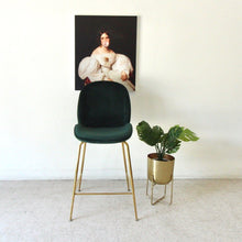 Load image into Gallery viewer, Serena Dark Green Counter Height Stool