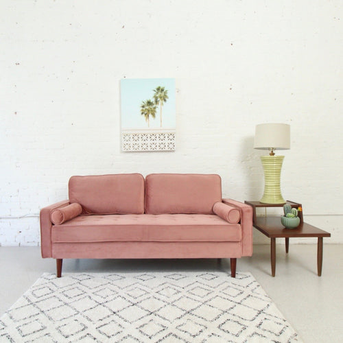 Lucy Sofa in Rose Pink