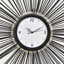 Load image into Gallery viewer, Black Sunburst Clock