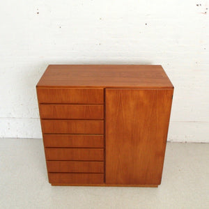 Teak Danish Modern Extra Large Highboy