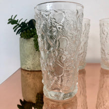 Load image into Gallery viewer, 1960's volcano glass textured drinking glass