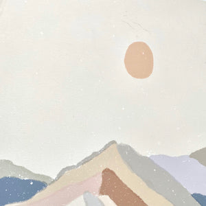 Mountain Dream Art Print on Watercolor Paper