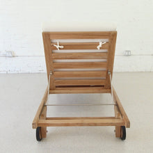 Load image into Gallery viewer, Riza Solid Teak Outdoor Lounger
