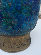 Load image into Gallery viewer, Bitossi Italian Blue w/Gold Vase