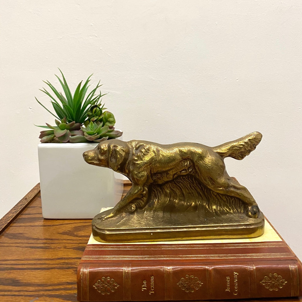 Dog  Brass Bookend