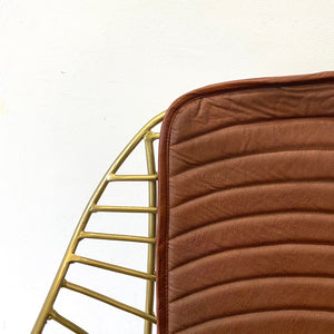 Eastman Leather and Gold Dining Chair