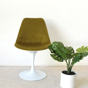 Olive Green Newly Upholstered Tulip Chair