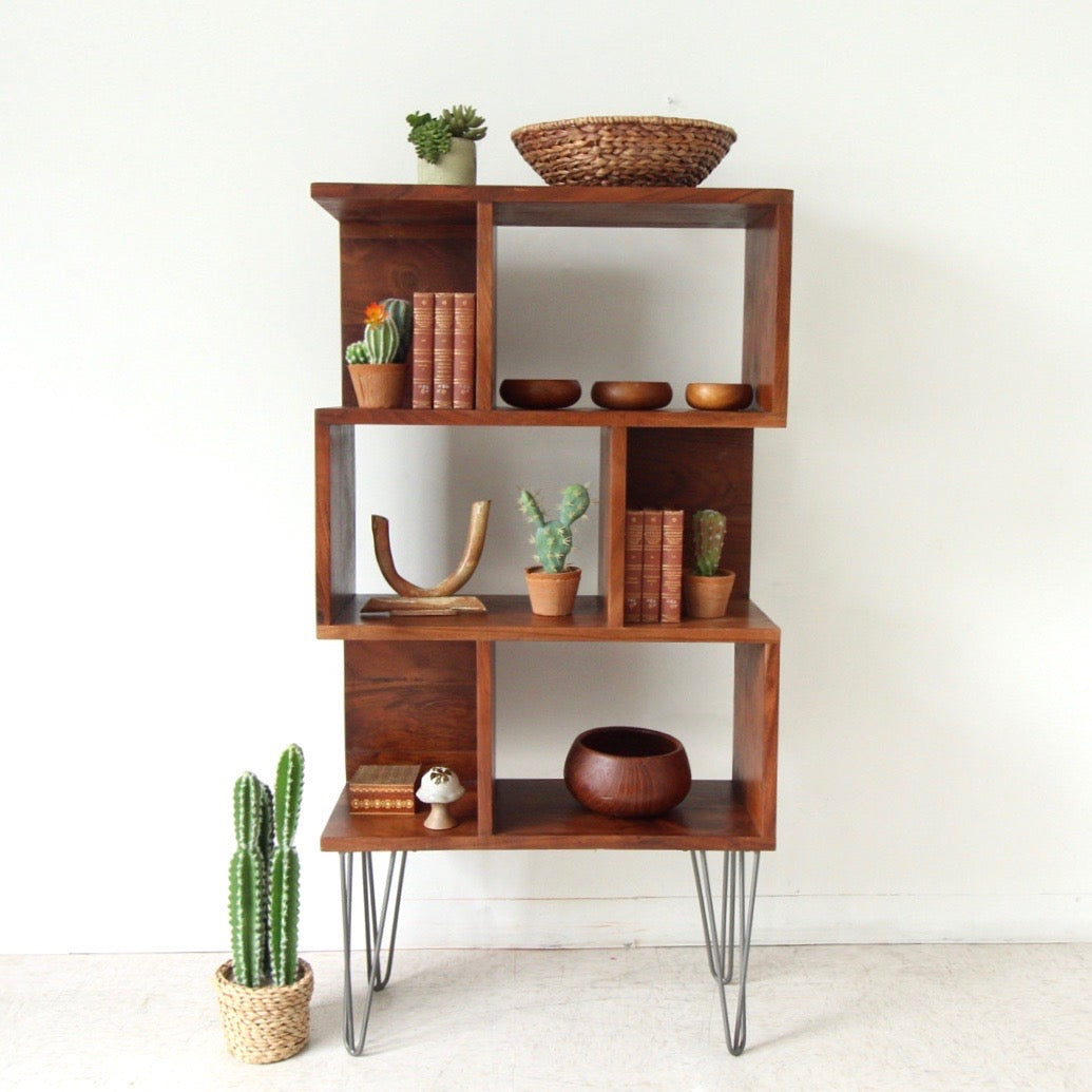 Dana Point Repurposed Rosewood Shelf Unit