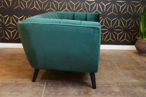 Melonie Dark Green Velvet Love Seat