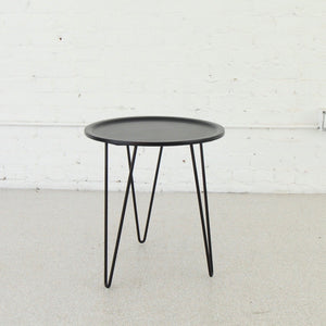 Claudia Metal Table with Hairpin Legs in Black
