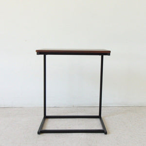 Walnut and Black Sofa Desk Table