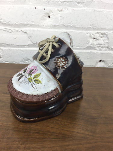 The Clay Cobbler Shoe Planter w/Leather Lace