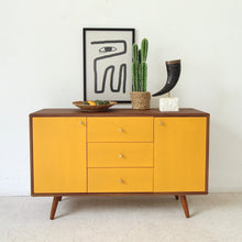 "Load image into Gallery viewer, ""Mika"" Cabinet Buffet Credenza in Mustard"