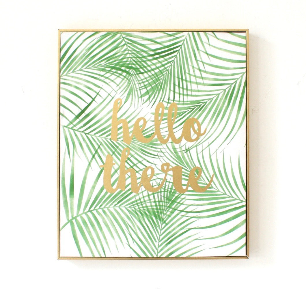 """Hello there"" Palm Leaf Decor"