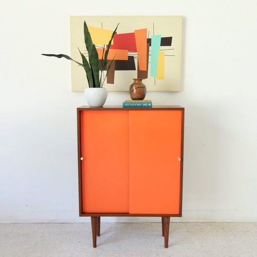 """Girard"" Orange Multipurpose Cabinet - Sunbeam Exclusive"