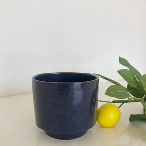 Dark Blue Glazed Planter