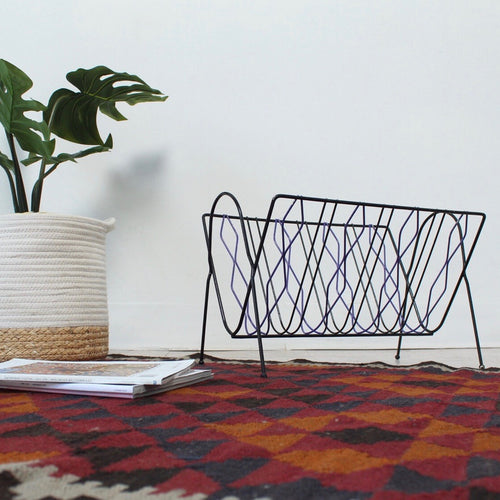 Magazine Rack Purple and Black