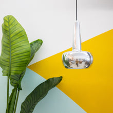 Load image into Gallery viewer, Sleek Chrome Small Tear Drop Hanging Lamp