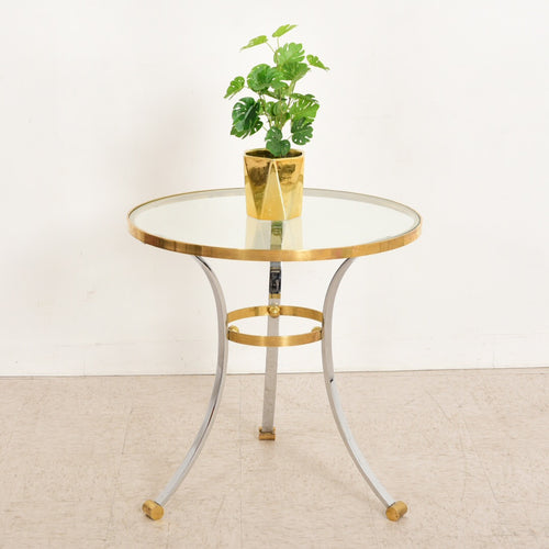 Mastercraft Brass and Chrome Dining Table