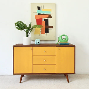 Mika Cabinet Buffet Credenza in Mustard