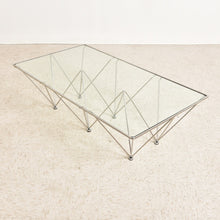 Load image into Gallery viewer, Mid Century Style Chrome and Glass Coffee Table
