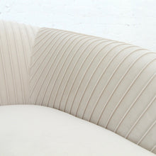 Load image into Gallery viewer, Marina Pleated Loveseat in White