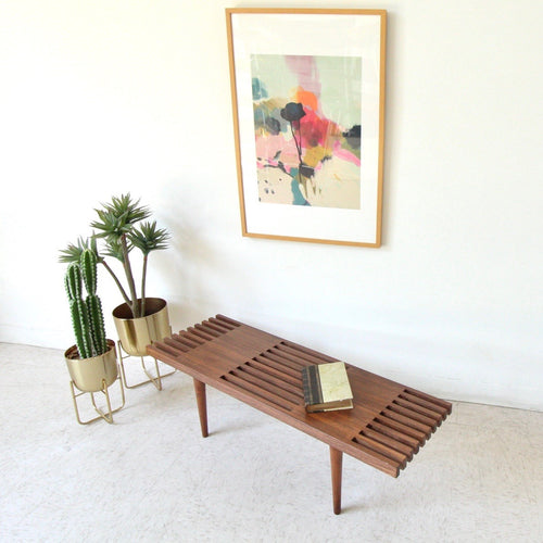 Stedman Walnut Slat Coffee Table