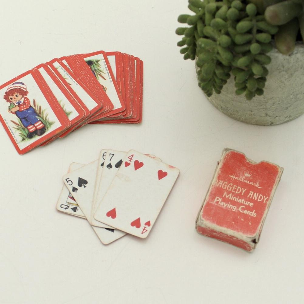 Raggedy Andy Miniature Playing Cards