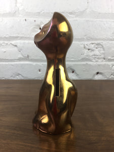 Gold Vintage Kitty Bank