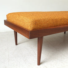 Load image into Gallery viewer, Walnut Long Bench Customizable Size and Color