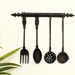 Vintage Iron Serving Utensil Set