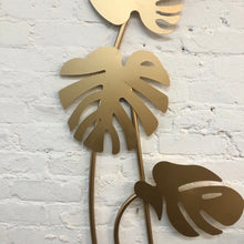 Load image into Gallery viewer, Brass Monstera Plant Wall Decor