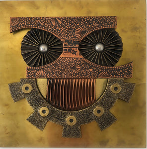 Owl Wall Sculpture / Copper Art