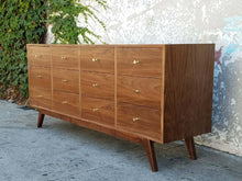 Load image into Gallery viewer, All American Walnut 12 Drawer Dresser Chest of Drawers
