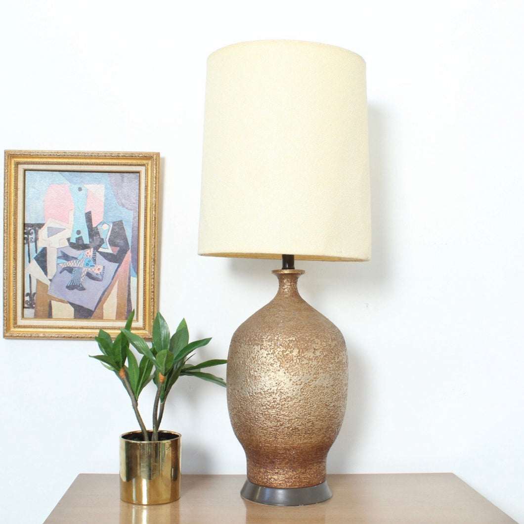 Extra Large  Textured Gold Lamp