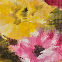 Load image into Gallery viewer, Expressive Floral Painting Gold Leaf Framed