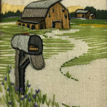 Load image into Gallery viewer, Barnyard woven crewel embroidered