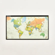 Load image into Gallery viewer, World Map  Framed