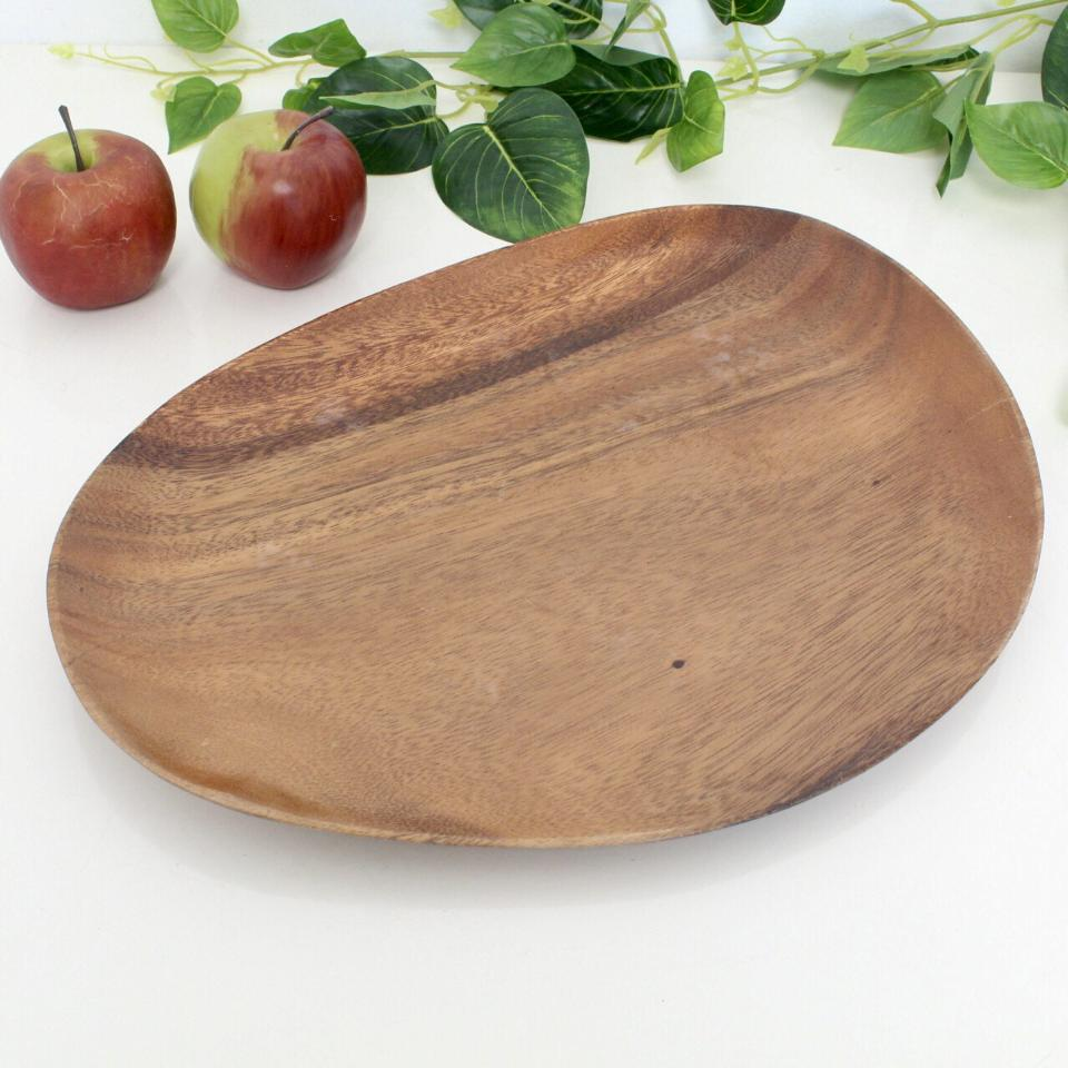 Oval Solid Wood Organic Shape Tray