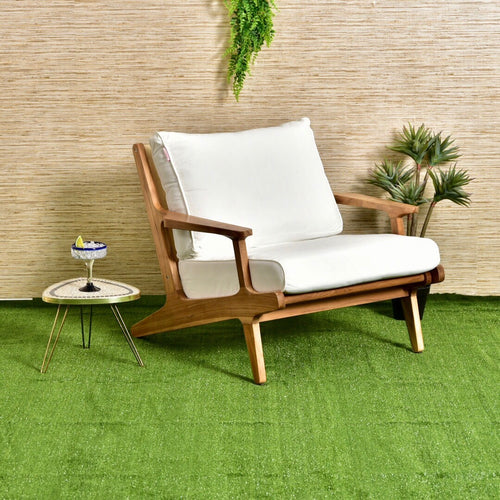 Outdoor Teak Sleek Lounge Chair
