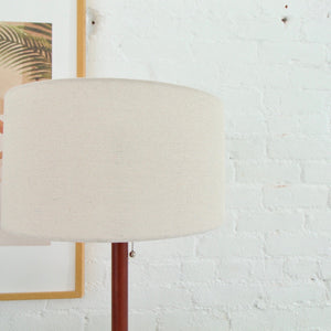 Sleek Walnut Table Lamp